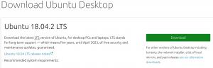 Ubuntuイメージの公式ページの画像
